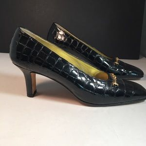 Vintage Escada Reptile Print Shoes 8